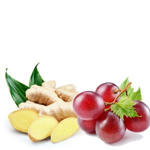 aceite jengibre y uva